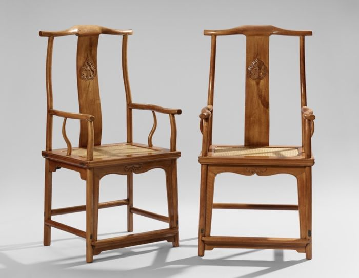 Superieur A Pair Of Guanmaoyi Huanghuali Chairs   China   1644u20131912 (Qing Dynasty)