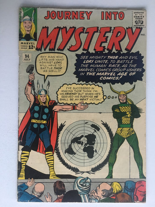 Marvel Comics - Journey Into Mystery / Thor #94 - Loki!! - 1x sc - (1963)
