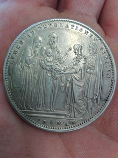 Pontifical state: 1834 coinshield, first edition, 4th year of Gregorio XVI, 1831-1846 - silver