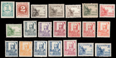 Spain 1937 - Cid and Isabel, complete series with 21 values - Including types A and B - Edifil 814/831, 816 A, 816 B, 823A