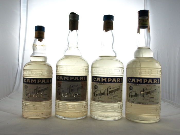4 Bottles of Cordial Campari from the 1950s-70s