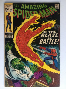 Marvel Comics - The Amazing Spider-Man #77 - The Lizard!! 1x sc - (1969)