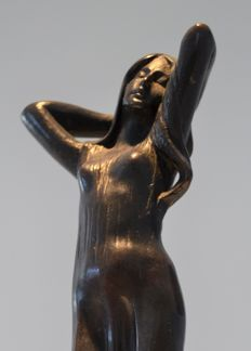 Cadet-Julien Causse (French 1869-1914) - Art Nouveau bronze sculpture Maiden