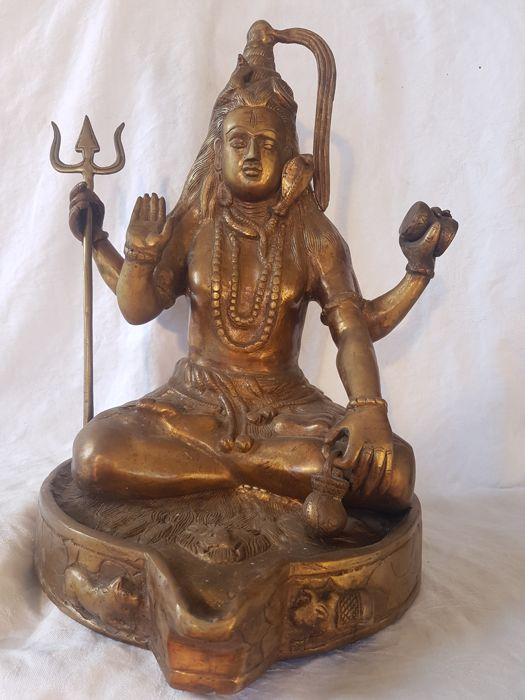 Bronze image of Shiva - India - 2nd half 20th century (41 cm)