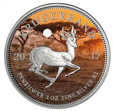 South Africa - Krugerrand 2017 '50 Years of the Krugerrand' colour - 1 oz silver