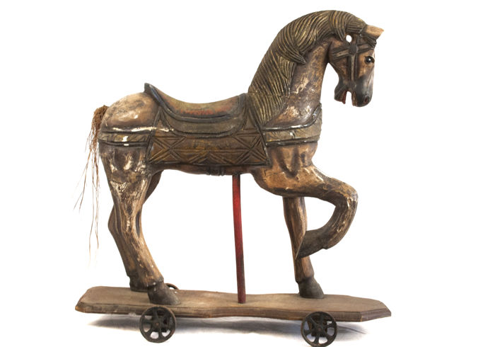 Wooden Old Horse. England. 1940's.