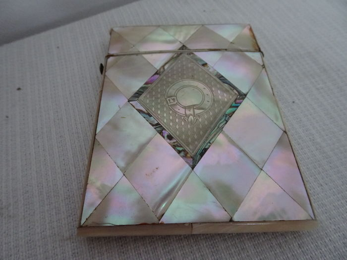 Victorian with mother of pearl glued business card holder around victorian with mother of pearl glued business card holder around 1900 colourmoves