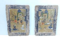 Qajar book covers - Iran - 19th century