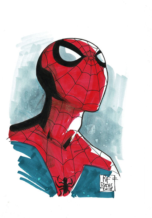 SPIDERMAN By Ramon Bachs - Original Drawing