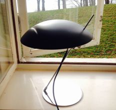 Designer Unknown - Vintage Metal Danish Table Lamp / Lightning