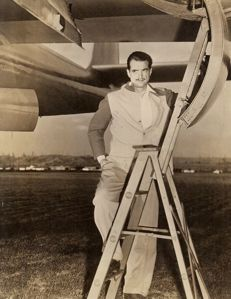 Unknown - Howard Hughes with his plane, 1940s
