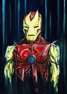 IRON MAN by Arnau Casas - Original Painting