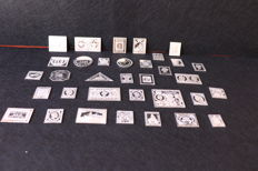 Lot of  34 Silver 925 world stamps