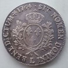 France – Louis XV (1715-1774) – Ecu with band 1764 L Bayonne – Silver