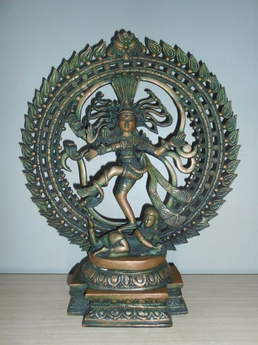 Large bronze dancing Shiva - India - 2nd half 20th century (50 cm)