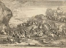 A. F. Van der Meulen, A. Frans Boudewijns, 1688 - Landscape with the troupes of Louis XIV