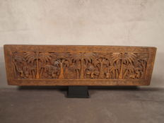 Panel carved in wood - BAMUM - Cameroon