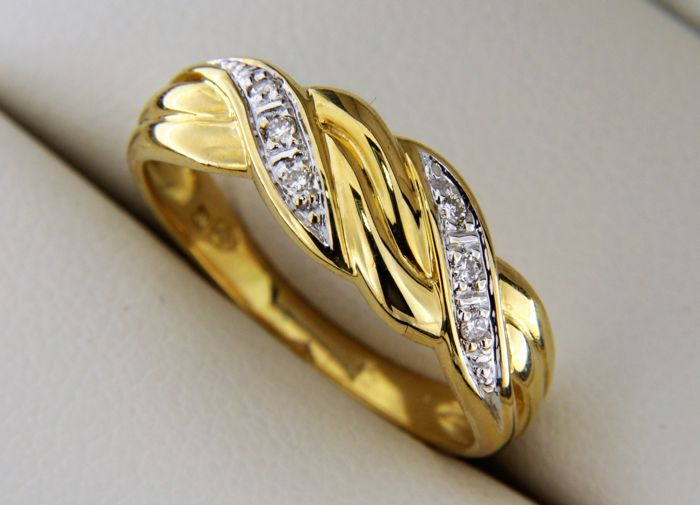 18 kt. Gold - Ring Diamond