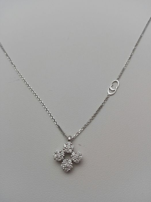 Chimento - 18 kt. White gold - Necklace with pendant Diamond