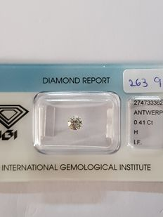 0.41 ct brilliant cut diamond H VVS1