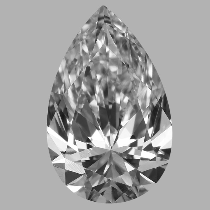 0.50 ct Pear cut  DVS2 Low Reserve Price #2557