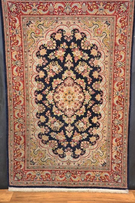 Quom silk on silk ,Iran , 165 x 104 cm