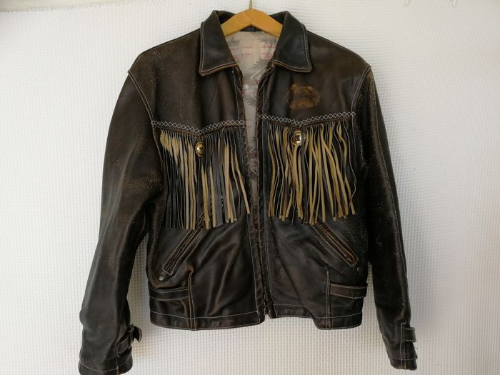 Western horse riding jacket in real leather - 1990