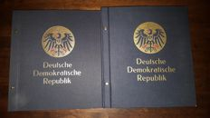 GDR 1949/1990 - Collection and some zones in two neat Davo albums