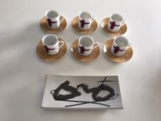 Antoni Tàpies - Expresso cups and Plate