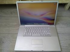 "Apple PowerBook G4 17"" - 1Ghz PowerPC G4, 1.5GB RAM, 100GB HDD, DVD writer - with original charger - model A1013"