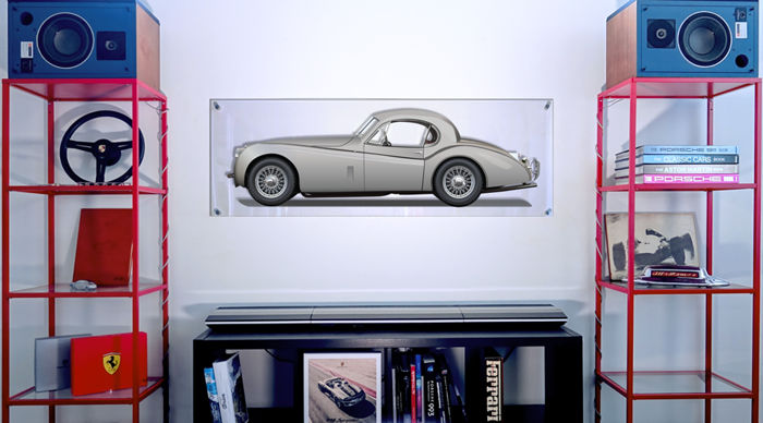 TL- Halmo Collection pannello in plexiglas Jaguar XK 120