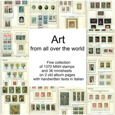 Thematics, Art from all over the world - Collection on 2 album pages