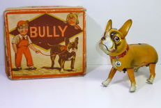 "Blomer & Schüler, US-Zone, Germany - length around  20 cm - Tin ""BULLY"" Boston Terrier, 1950s"