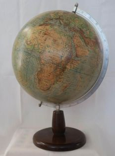 1950's Rath globe on wooden stand