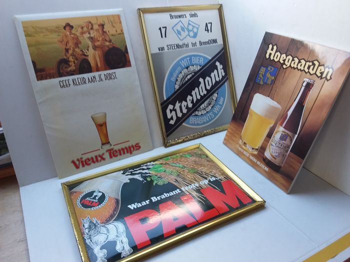Beer advertising signs. 1990 1989 1987 1995