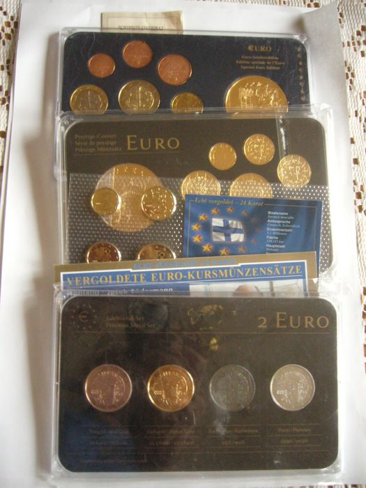 Europe 2 Euro Finlande 2013 Precious Metal Set 4 Plated Coins