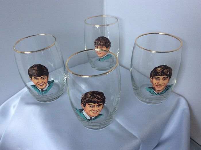The Beatles very rare set of drinking glasses 1964