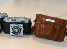 Two Agfa 24 x 36 mm bellow cameras: KARAT 12 (2.8) from around 1946 and SUPER SOLINETTE from around 1955