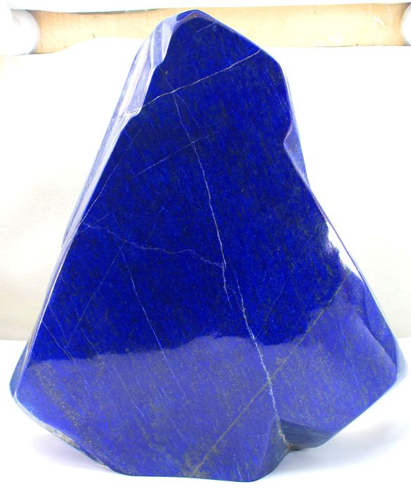 XXL Large Premium Quality Royal Blue Lapis Lazuli Healing Polished Tumble - 380 x 370 x 95mm - 22.7 kg