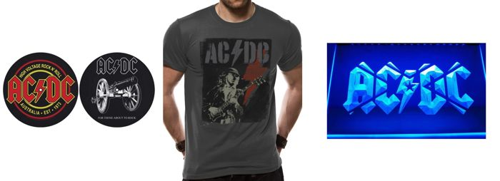 AC/DC Great Memorabilia Lot For Your Bar / Office / Music Room