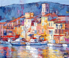 Claude Carvin - Au port de Cassis