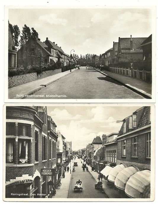 Lot with postcards of Dutch villages and towns, 122x
