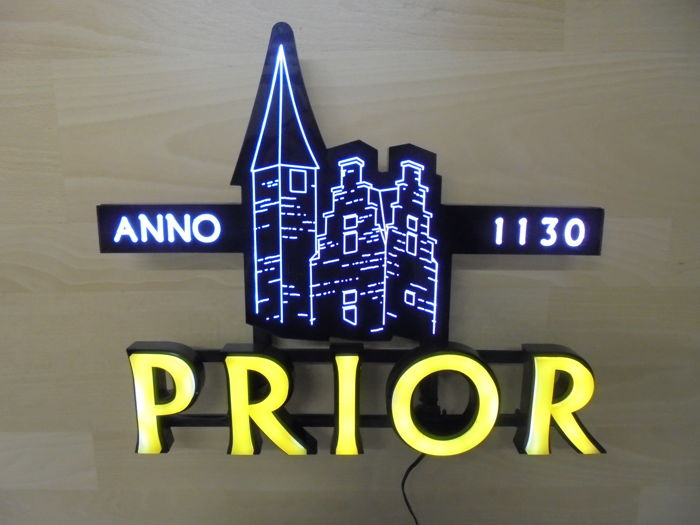 PRIOR abbey beer (B) - advertising wall light (LED) - 20th century