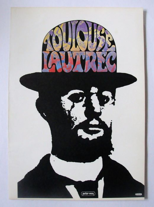 Toulouse-Lautrec by Peter Max 1970