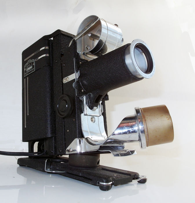 """Vintage Picturol Projector model G: with 4"""" projection lens in original case, used for sale"""