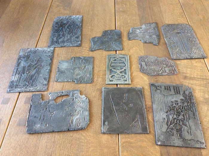 Old printing plates on the religious theme 18th or early 19th century - France