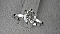 1.09 ct  SI1  Round Diamond Ring 14K White Gold *** NO RESERVE PRICE ***