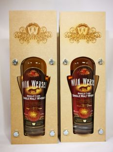2 bottles - Wild Weasel Single Cask Single Malt Whisky from The Wilderen distillery - 46% abv,