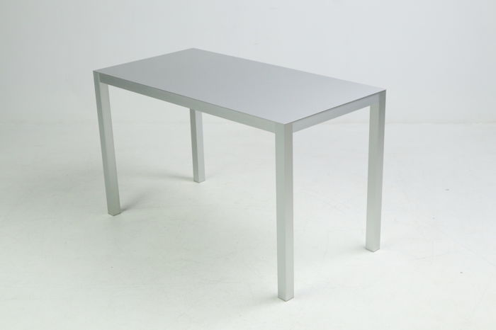 Unknown manufacturer - aluminium designer coffee table
