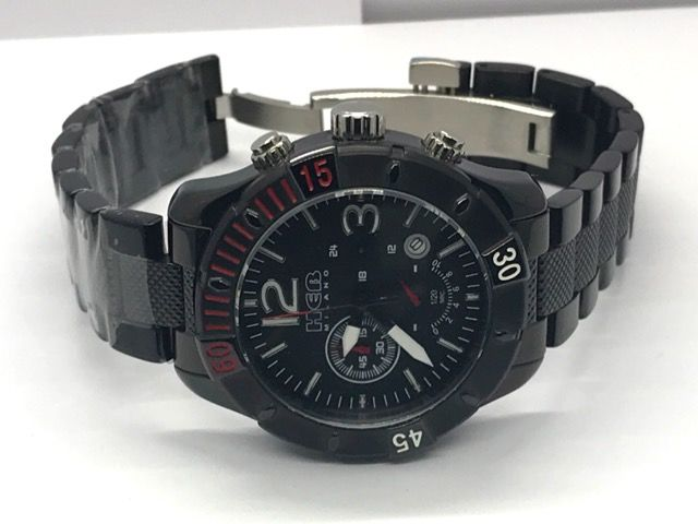 HEB Milano  - HEB Milano Black PVD Coating Men's Watch - I9490-BLK/BLK - Men - 2011-present
